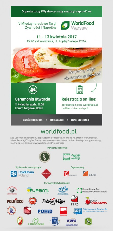 Zaproszenie WorldFoodWarsaw